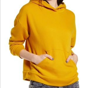 NWT BP. Yellow Hoodie Sweatshirt Size XS